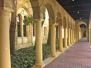 University of Western Australia - Limestone arches are a prominent feature along the older undercover walkways
