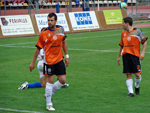 UE Sant Julià - UE Sant Julià against S.P. Tre Fiori in 2009-10 UEFA Champions League.