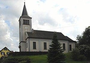 Ueberstrass - Image: Ueberstrass, Eglise Sainte Thérèse de l'enfant Jésus