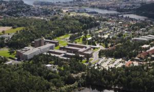 University of Agder - Panorama view of Gimlemoen.