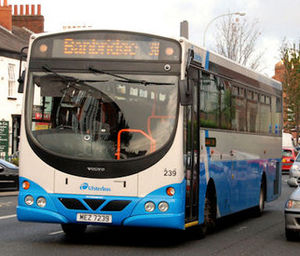 Wright Eclipse - Ulsterbus Wright Eclipse SchoolRun bodied Volvo B7R in Belfast in October 2009