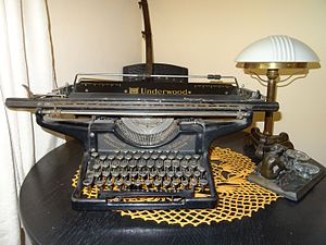 Underwood Typewriter Company - Underwood typewriter before 1939, imported to Poland