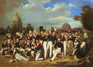 History of the French Foreign Legion - A company of the Legion on the Champs de Mars in Paris (1836).