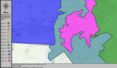 United States Congressional Districts in North Carolina (metro highlight), since 2013.tif