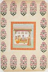 Krishna Awaiting Radha in a Palace