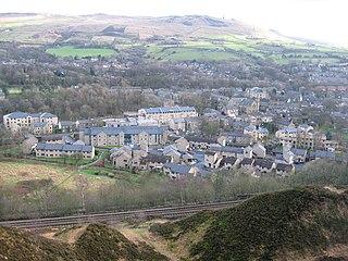 Uppermill village in United Kingdom