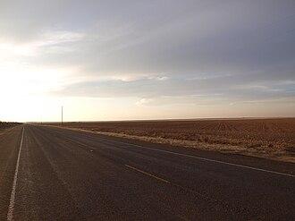 U.S. Route 380 - US 380 west of Tahoka, Texas