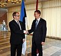 Välisminister Urmas Paet kohtus täna Tallinnas Läti uue välisministri Edgars Rinkēvičsega. 31. oktoober 2011 (6298642404).jpg