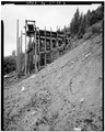 VIEW OF NORTH SIDE OF TIPPLE - Day-Mutual Mine, Burnt Tree Fork, Spring Canyon, Helper, Carbon County, UT HAER UTAH,4-HELP.V,1-2.tif