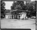 VIEW OF THE GAS STATION - Billy Carter Service Station, 216 West Church Street, Plains, Sumter County, GA HABS GA,131-PLAIN,1-2.tif