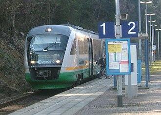 Regentalbahn - Siemens Desiro, VT19a, at Bad Brambach