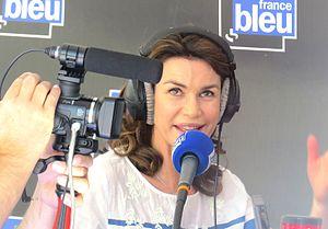 Valérie Kaprisky - Valérie Kaprisky being interviewed at Cannes 2014