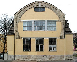 "Bauhaus University, Weimar - The ""horseshoe"" (south gable) of the School of Arts and Crafts, designed by Henry van de Velde and built in 1905–1906"