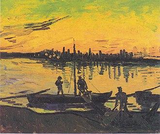 Boats du Rhône - Image: Van Gogh Hafenarbeiter in Arles