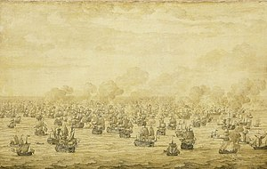 1684 in art - Image: Van de Velde, Battle of Schooneveld
