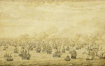 First naval battle of Schooneveld, Willem van de Velde the Elder