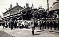 Vasútállomás a Szent Jobbot szállító szerelvény, az Aranyvonat érkezésekor, 1938. június 27.-én Fortepan 100325.jpg