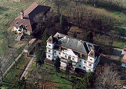 Aerial photography of the Odescalch Castle