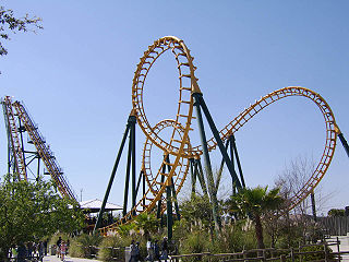 model of roller coaster built by Vekoma