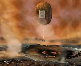 Aerobot - The proposed Venus In-Situ Explorer lander would release a meteorology balloon