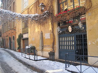 Via Margutta - Via Margutta under the snow 4 February 2012
