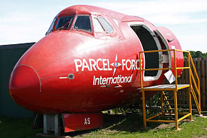 Parcelforce - Nose of a Vickers Viscount 806 G-OPAS formerly used for Parcelforce International.