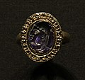 Victoria and Albert Museum Jewellery 11042019 Medieval ring Sapphire intaglio 2946.jpg