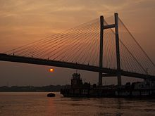 Vidyasagar Setu at Sunset.JPG