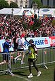 Vienna City Marathon 20080427 090 Winner Abel Kirui promenading back and greeting finishers of Half Marathon..jpg