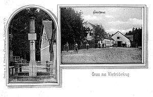 Imeni Alexandra Kosmodemyanskogo - Vierbrüderkrug inn and the Vierbrüdersäule memorial