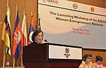Vietnam Minister of Labor, Invalids and Social Affairs speaks at the launch of the ASEAN Women Entrepreneurs' Network (13965844935).jpg