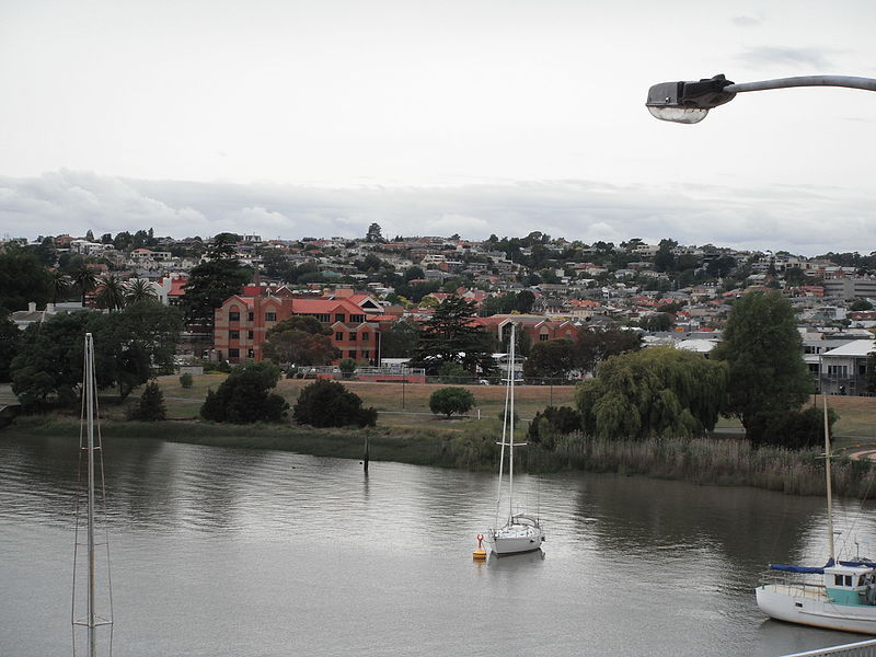 View from Trevallyn to Tamar river Launceston TAS