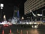 View in front of Chikushi Entrance of Hakata Station at night 20181223.jpg
