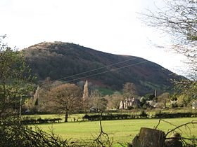 View of Cwmdu, Powys from Cwmdu Caravan and Camping Site.JPG