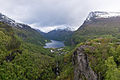 View of Geiranger, as seen from Flydalsjuvet Viewpoint 20150604 1.jpg