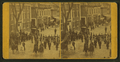 View of parade of men on horses and a marching band, by H. L. Webber 2.png