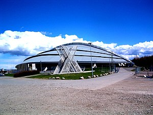 1994 Winter Olympics - Vikingskipet in Hamar was the venue for speed skating.