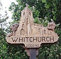 "Village sign, ""Whitchurch 2000 AD"" - geograph.org.uk - 433445.jpg"