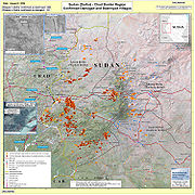 Villages destroyed in the Darfur Sudan 2AUG2004