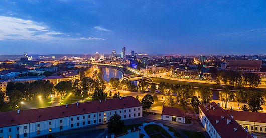 Vilnius, the capital of Lithuania Vilnius Modern Skyline At Dusk, Lithuania - Diliff.jpg