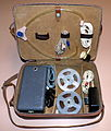 Vintage Accessories Case For Phono Trix Portable Reel-To-Reel Transistorized Tape Recorder, Made In West Germany, Circa 1959 (14493660058).jpg