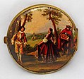 Vintage Women's Mirror Compact, Measures 3 Inches In Diameter, Made In West Germany (25673195441).jpg