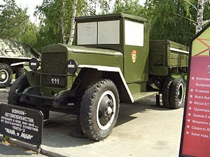 Vintage military truck of Russia
