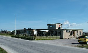 Visby Airport - The old terminal at Visby airport