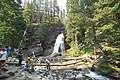 Visitors at Baring Falls (4482116378).jpg
