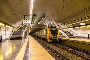 Santa Fe - Carlos Jáuregui (Buenos Aires Underground) - Image: Vista amplia de la estación Santa Fé