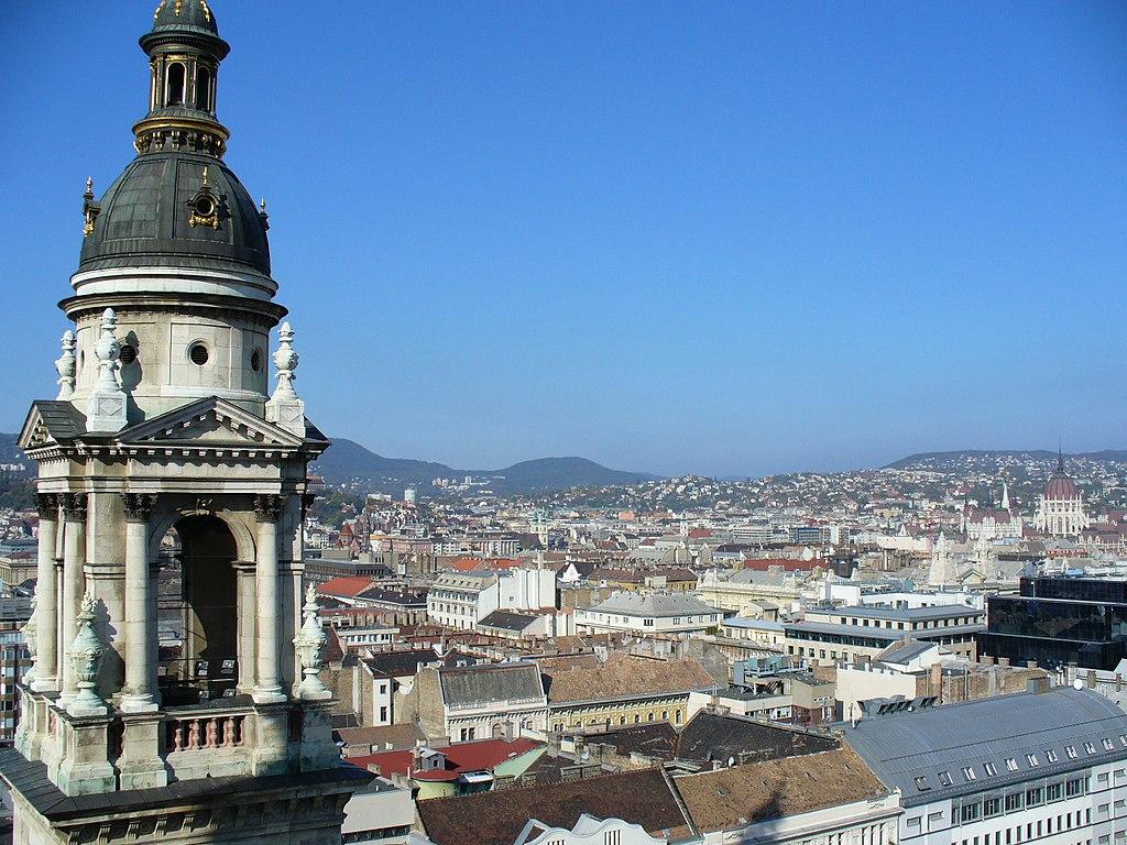 Vue depuis la basilique Saint Etienne à Budapest - Photo de Leandro Neumann Ciuffo