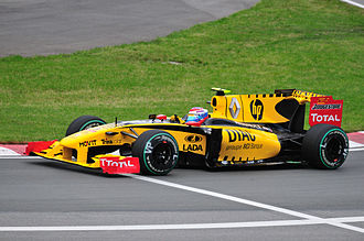 Vitaly Petrov - Petrov driving for Renault at the 2010 Canadian Grand Prix.