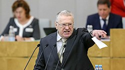 Vladimir Zhirinovsky in the State Duma (2018-01-10).jpg