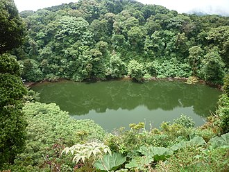 Barva Volcano - Barva Lagoon, one of the crater lakes of the volcano